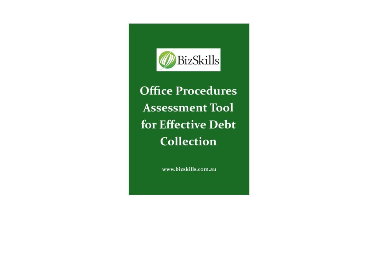 effective debt collection strategies assessment